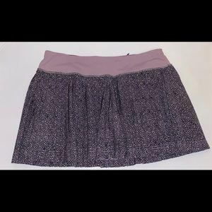 purple flower lululemon skirt
